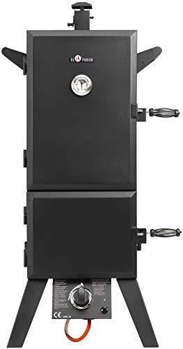 Gasgrill Portland XL von EL Fuego® Smoker Grill Grillwagen BBQ, 4,4 kW leistungsstark, mit Thermometer, große Garkammer…