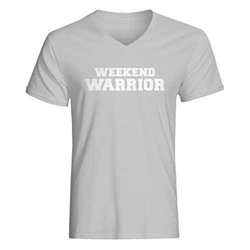 Vneck Weekend Warrior Large Heather Grey T-Shirt -