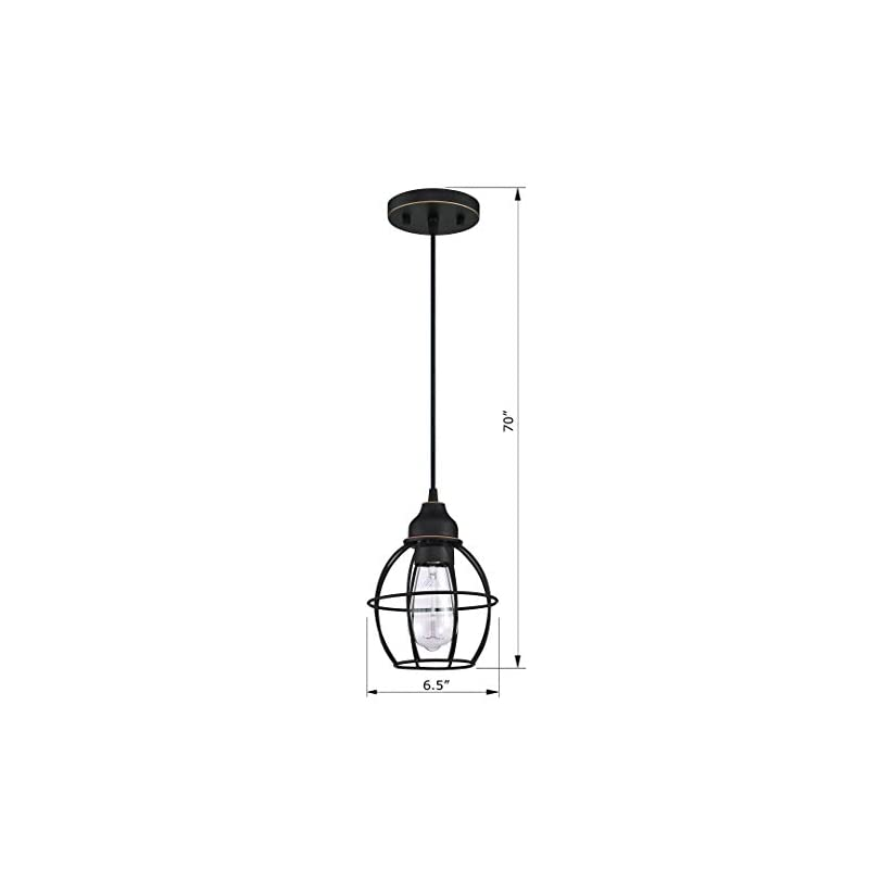 LIT-PaTH Pendant Lighting Fixture for Kitchen and Dining Room, Hanging Ceiling Lighting Fixture, E26 Medium Base, Metal…