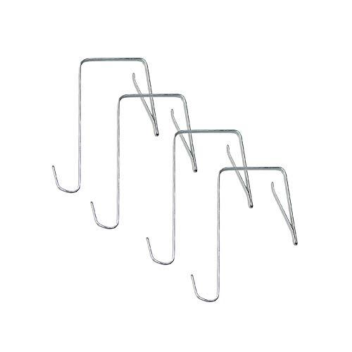 - Dsaren Over The Door Hooks, 4 Pack Single Hook Space Saving Organizer Heavy Duty Wreath Hanger for Front Door, Kitchen, Bathroom and Bedroom