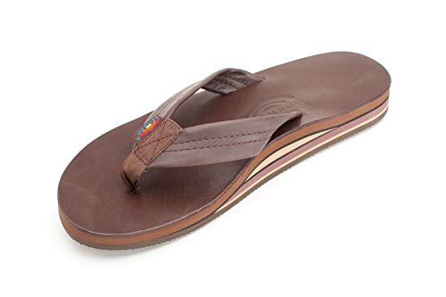 Rainbow Sandals Men's Premier Leather Double Layer with Arch Wide Strap, Classic Mocha, Men's X-Large / 11-12 D(M) US ()