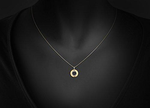 0.15CT ronde pendentif en forme de pendentif pour les femmes et les filles en argent sterling 925 mat fin Or Rhodium Plaque