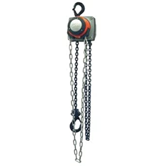 CM 5626A Steel Hurricane Hand Chain Hoist with Hook Mounted, 2000 lbs Capacity, 10' Lift Height