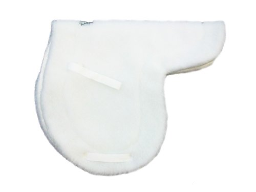 Custom Made Horse Saddles - Wilker's Custom Horse Products Style 01 Close Contact Saddle Pad, White, 16-16.5-Inch