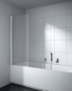 Mampara de ducha 75 x H160 cm pivotante de cristal Securit tratado antical de 5 mm y Perfil Aluminio Blanco o Plata Pulido: Amazon.es: Bricolaje y herramientas