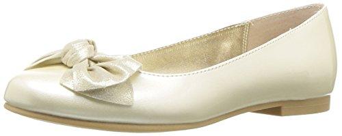 NINA Girls' kaytelyn Ballet Flat Ivory 4 M US Big -