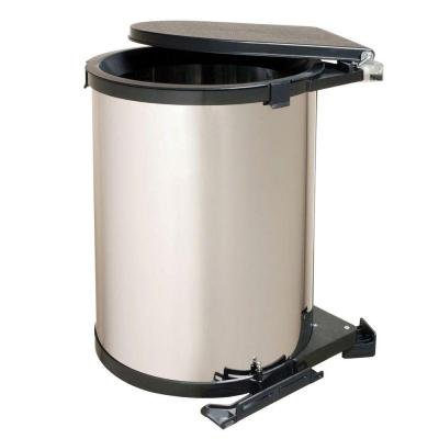 Knape & Vogt 19.5 in. x 13.5 in. x 13 in. In-Cabinet Pivot Out Chrome Finish Trash Can by Knape & Vogt