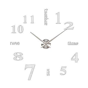 soledi 3d horloge moderne miroir surface grand nombre horloge