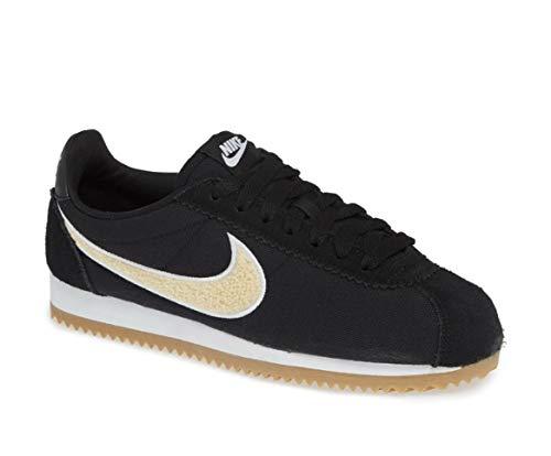 (Nike Womens Classic Cortez Premium Shoes (Black/Light Cream, Size 7 M US))