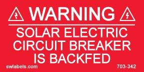 SW Labels Solar Warning Label 703-342 - 10 Pack