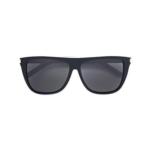 531e9a27ef Saint Laurent Mujer 487474Y99091081 Plata/Negro Metal Gafas De Sol Barato