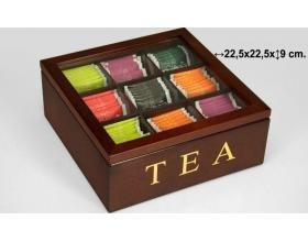 Suska - Caja para te suska 1020 - 4001720 - caja de madera para infusiones(25,5x25,5x9cm): Amazon.es: Hogar