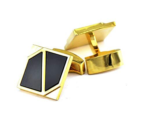 - Epinki Cufflinks for Men Gold Square Cufflinks Tuxedo Formal Shirts Kit