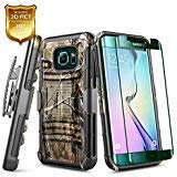 Galaxy S6 Edge Plus Case w/ [Full Coverage Screen Protector HD], NageBee [Heavy Duty] Armor Shock Proof [Belt Clip Holster Kickstand] Rugged Combo Case Samsung Galaxy S6 Edge + Plus (G928) - Camo