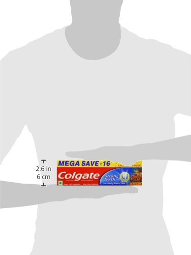 Colgate Toothpaste Strong Teeth - 300 g (Anti-cavity) Free Toothbrush