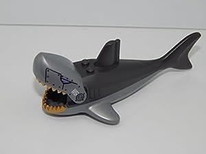 """Sharkanator"" Lego Shark with Gills, Gold Teeth, Rivets and '115' Pattern"