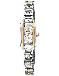 Pulsar Womens PEX534 Crystal Accented Dress Two-Tone Stainless Steel Watch