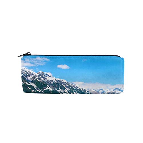 Alaska Glacier Ice Cylinder Women Cosmetic Bag Zipper Single Layer Travel Storage Makeup Bags Purse
