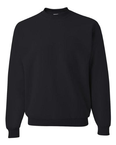 Jerzees Men's NuBlend Crew Neck Sweatshirt,Medium,Black Black Crewneck Sweatshirt
