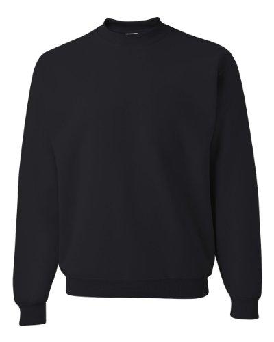 Black Crewneck Sweatshirt - Jerzees Men's NuBlend Crew Neck Sweatshirt,Medium,Black