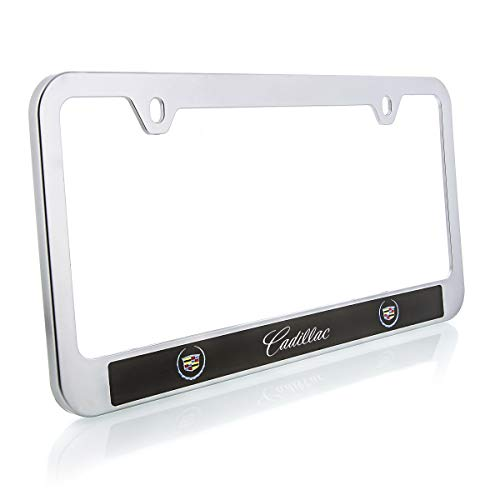 Cadillac (2000-2013 Logo ABS Plastic Satin Finish License Plate Frame