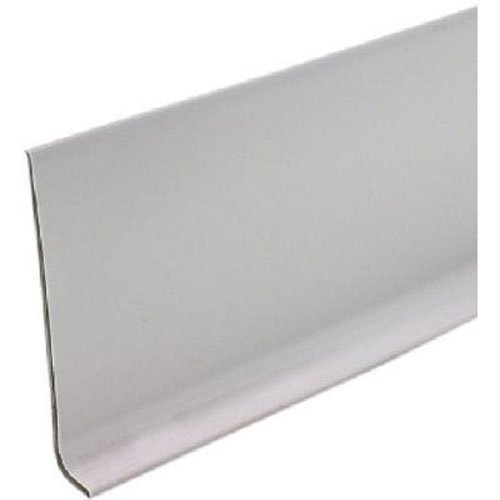 M-D Building Products 75291 4-Inch by 4-Feet Dry Back Vinyl Wall Base, Silver Gray - Gray Cove Base