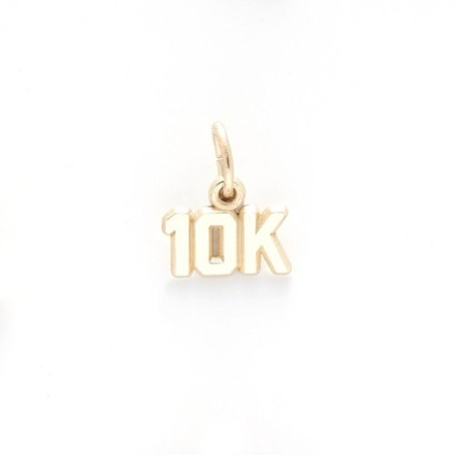 10k Race Charm - Gold Plated 10K Race Charm, Charms for Bracelets and Necklaces