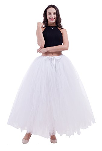 Halloween 100 cm Long Adult Puffy Tutu Tulle Skirt For Women Floor Length Wedding Party Skirts (Halloween Costumes With Puffy Skirts)