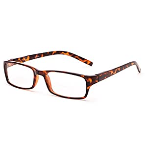 Readers.com The Vancouver Bifocal +1.00 Tortoise Unisex Simple Rectangle Bifocal Reading Glasses