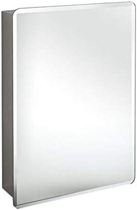 壁掛け式 ステンレス鋼 ミラーキャビネット、 多目的 ストレージ 主催者 薬箱 シングルドア付き、 400X600X130mm