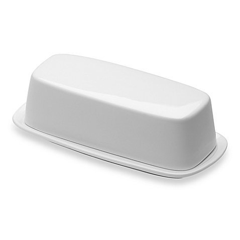 Nevaeh Covered Butter Dish, White Bone China by Fitz and Floyd