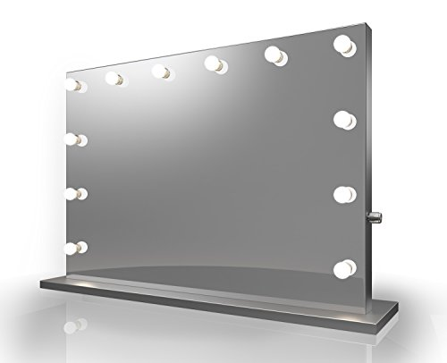 Diamond X Catalonia Silver Edge Hollywood Makeup Mirror with WW - Mirrors 1000mm Unit Bathroom Vanity Lights
