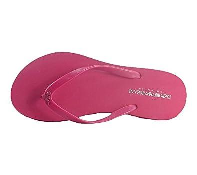 Emporio Armani Badelatschen Pink Zehentrenner Damen 262525 5P336 05275, Größenauswahl:40