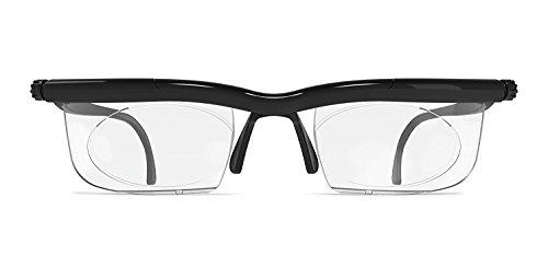 1e7b75221f0 Adlens Glasses Adjustable Focus Eyeglasses Variable Focus Non Prescription  Glasses for Reading Driving or Distance -