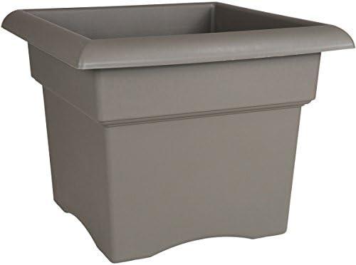 Bloem Fiskars 14 Inch Veranda 3 Gallon Box Planter, Color Cement 57714 , 14-Inch