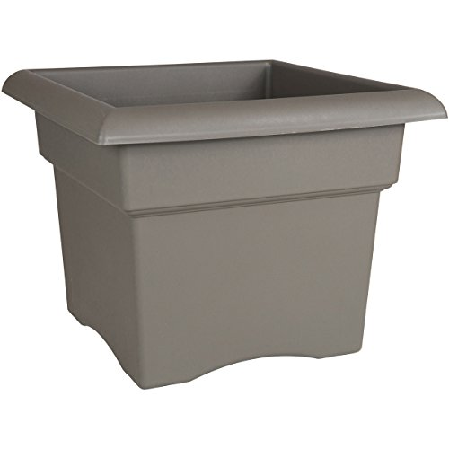 Bloem Fiskars 14 Inch Veranda 3 Gallon Box Planter, Color Cement (57714), 14-Inch (Pottery Outdoor Garden)