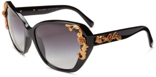 D&G Dolce & Gabbana womens 0DG4167 Cat-eye Sunglasses,Black,59 mm