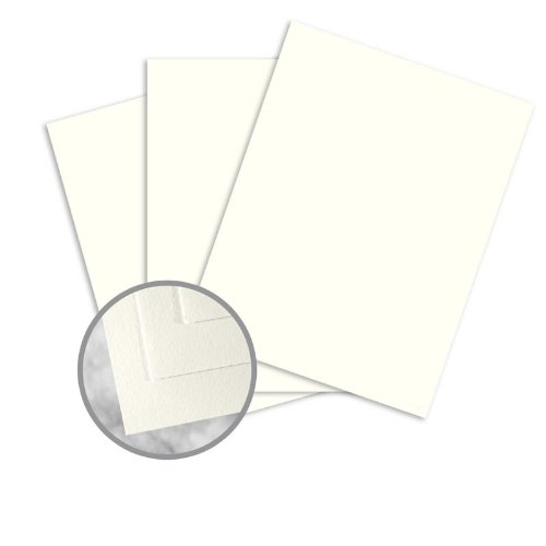 Strathmore Writing Natural White Paper - 17 1/2 x 22 1/2 in 24 lb Writing Wove 25% Cotton Watermarked 500 per Ream by Mohawk Fine Papers Strathmore Writing