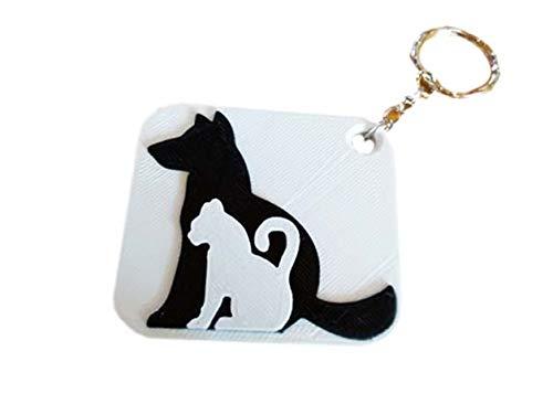Chaveiro Cat Dog Plástico