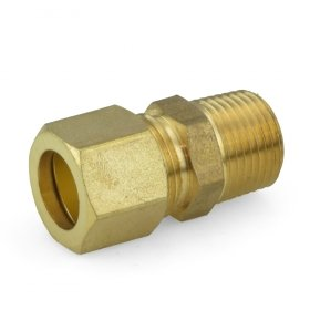 1/2'' OD x 3/8'' MIP Threaded Compression Adapter, Lead-Free - Pack of 10