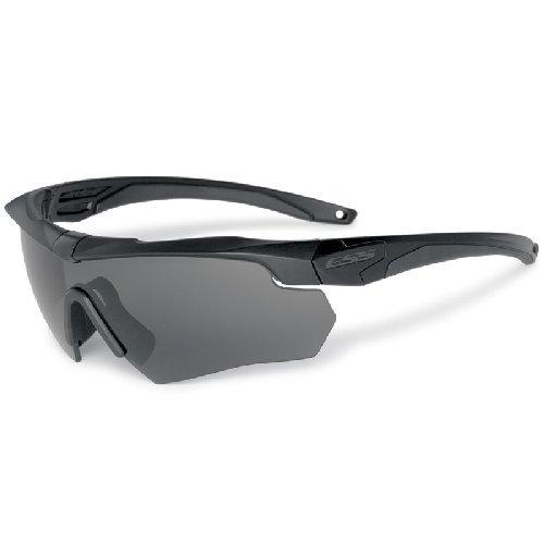 ESS Crossbow 2X Dual-Eyeshield Kit - 2 Black Frames, 2 Lenses - Clear & Smoke Grey
