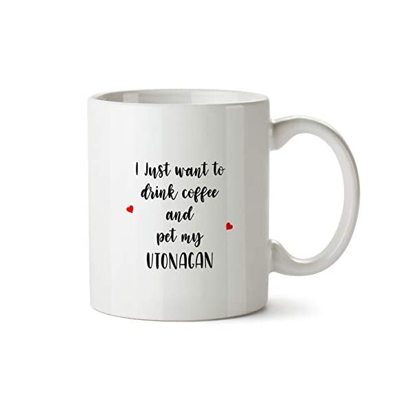 Utonagan Gift Mug - AA196 Funny Dog Lover Coffee Cup For Mom Grandma Women Her Trainer Owner Breeder Caffeine Ceramic Novelty Present 2