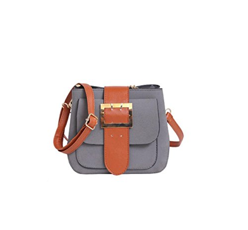 GSHGA Bolsos De Mano Friega Correa Grande Hombro Bolsa Moda Simple,Brown Grey