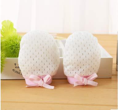 Lavillede Baby Anti-Kratz-Handschuhe, Baumwolle, Seide, mit Kordelzug, verstellbar, 1 Paar