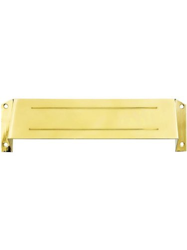 Deltana MSH158CR003 Solid Brass Mail Slot Hood for Open Back Plates in PVD Lifetime