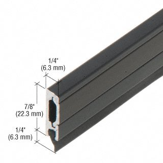 """CRL 42"""" Clear Anodized Entrance Door Sweep with Concealed Fasteners"""