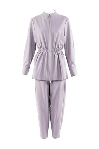 Tibi Purple Double Layered Plainweave Jumpsuit SZ 2