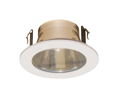 4 Inches Clear Lens Shower Trim for Line Voltage Recessed Light/lighting-white Fit Halo/juno ()
