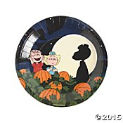 Peanuts Halloween Paper Plates Dinner Size 'Its the Great Pumpkin, Charlie -