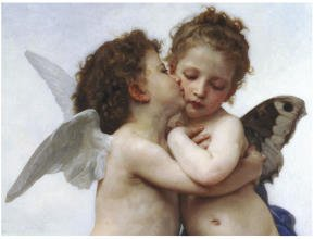 (11x14) William-Adolphe Bouguereau The First Kiss Art Print Poster